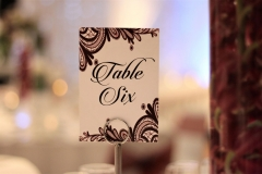 The Wedding Place | Table Numbers