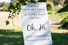 The Wedding Place | Directional Sign