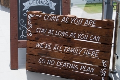 The Wedding Place | Rustic Signage
