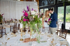 The Wedding Place | Gold Stands with Fresh Flowers