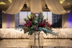 The Wedding Place | Silver Base Vase with Fresh Flowers